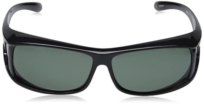 6c149845fe Amazon.com  Hilton Bay Polarized Over-Prescription Sunglasses P77 (Black    Smoke)  Shoes