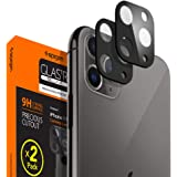 Spigen, 2 Pack, iPhone 11 Pro/iPhone 11 Pro Max Camera Lens Protector [Black] Full coverage, Scratch-Resistant, Waterproof, Oil Free rear camera guard