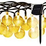 iDOO 30 LED Solar Powered Outdoor Indoor String Lights Crystal Ball 20ft IP65 Waterproof Ambiance Lighting for Christmas Garden Patio Party Path Yard Decorations