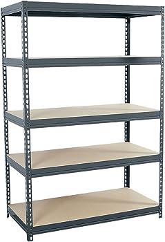 Edsal 24-in D x 48-in W x 72-in H 5-Tier Steel Freestanding Shelving Unit