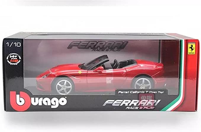 Ferrari California T Race Play,Collectible Diecast Model Car 1:24,Burago,Conver