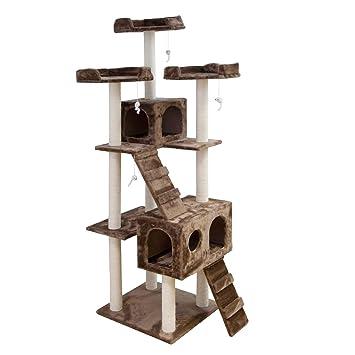 PET Árbol para Gatos rascador Ollie, Juguete Escalador para Animales domésticos, casa para felinos, Altura 186 cm, Mokka: Amazon.es: Jardín