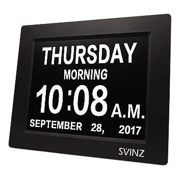 Amazon.com: svinz 3 Alarmas demencia Reloj digital ...