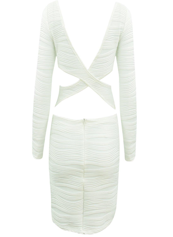 ACHICIGIRL Basia Solid Ruffled Cut Out Bodycon Mini Dress