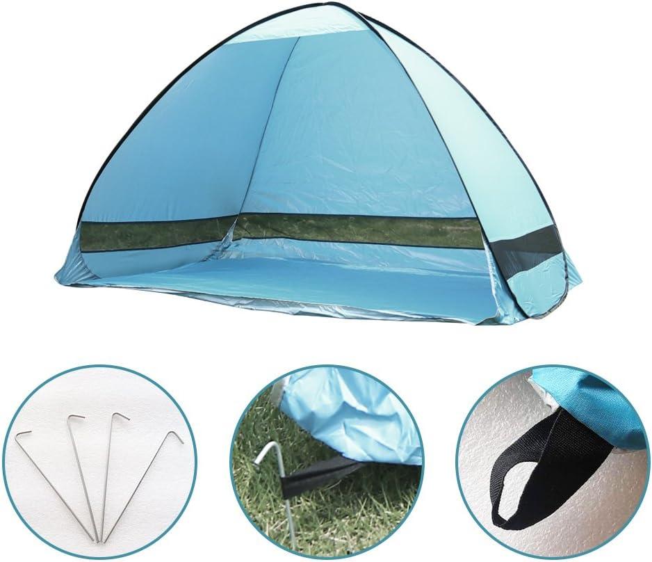 Tente Camping UV Protaction Personne seule imperm/éable Tente Tente de camouflage portable avec sac de transport for le camping de pique-nique P/êche Randonn/ée Utilisation ext/érieure
