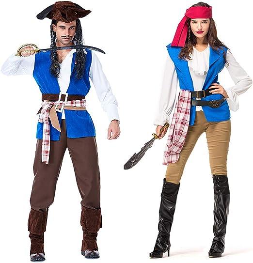 CFByxr Disfraces de Halloween – Hombre Adulto Mujer Pareja Vestido ...