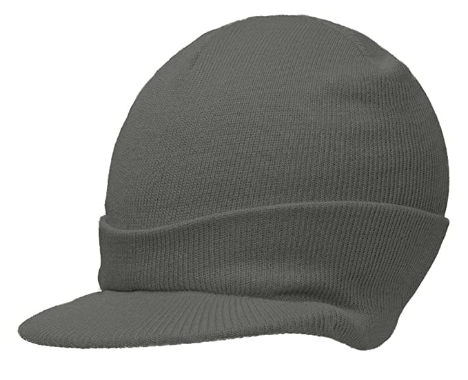 11ecddaeb20f5 Image Unavailable. Image not available for. Color  NEW CUFFLESS HEATHER CHARCOAL  Beanie Visor Skull Cap HAT