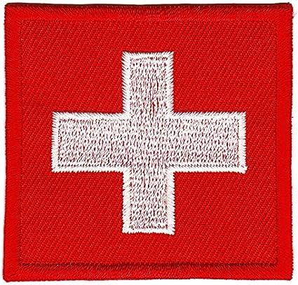 Bandera de Suiza parche plancha de: Amazon.es: Coche y moto