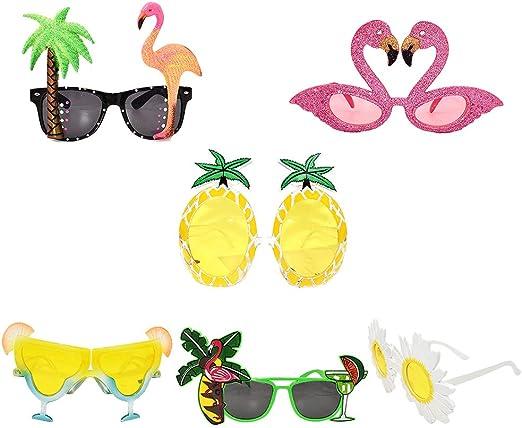 6 pares de anteojos de sol divertidos, hawaianos, tropicales, para ...