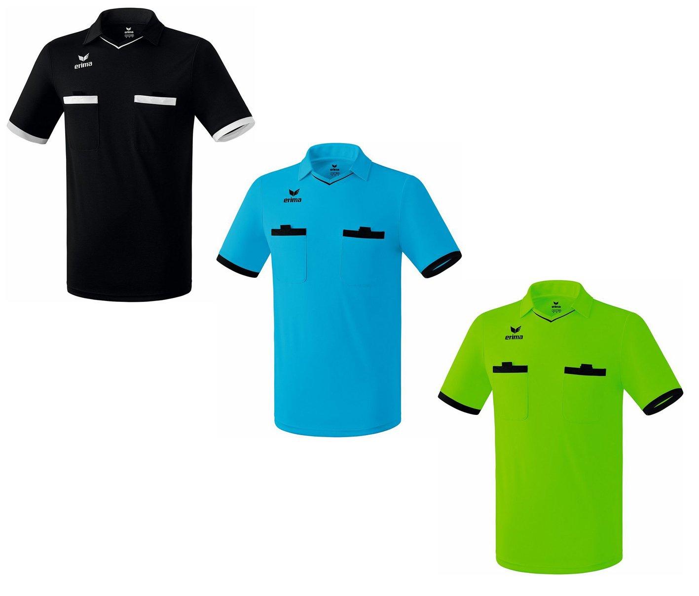 Erima Valencia Hombre Fútbol Camiseta de árbitro turquesa negro ...
