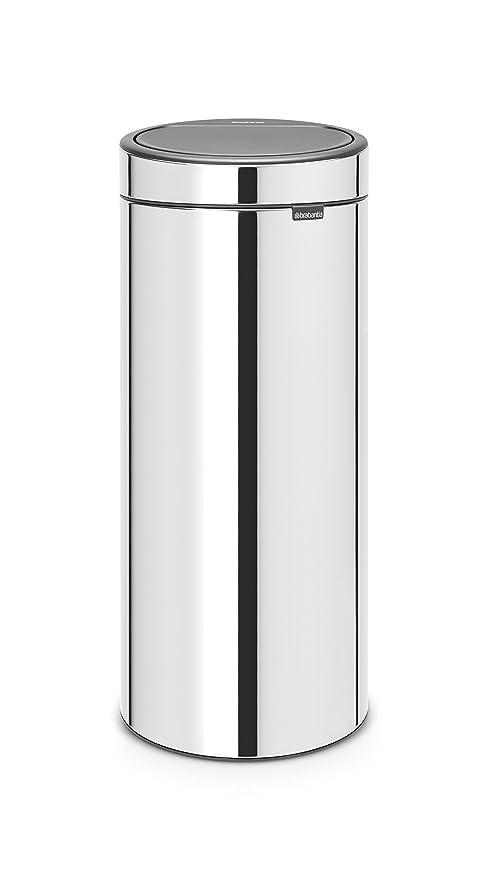 Brabantia Touch Bin 30 Liter Flat Top.Brabantia Touch Bin New 30 Litre Brilliant Steel