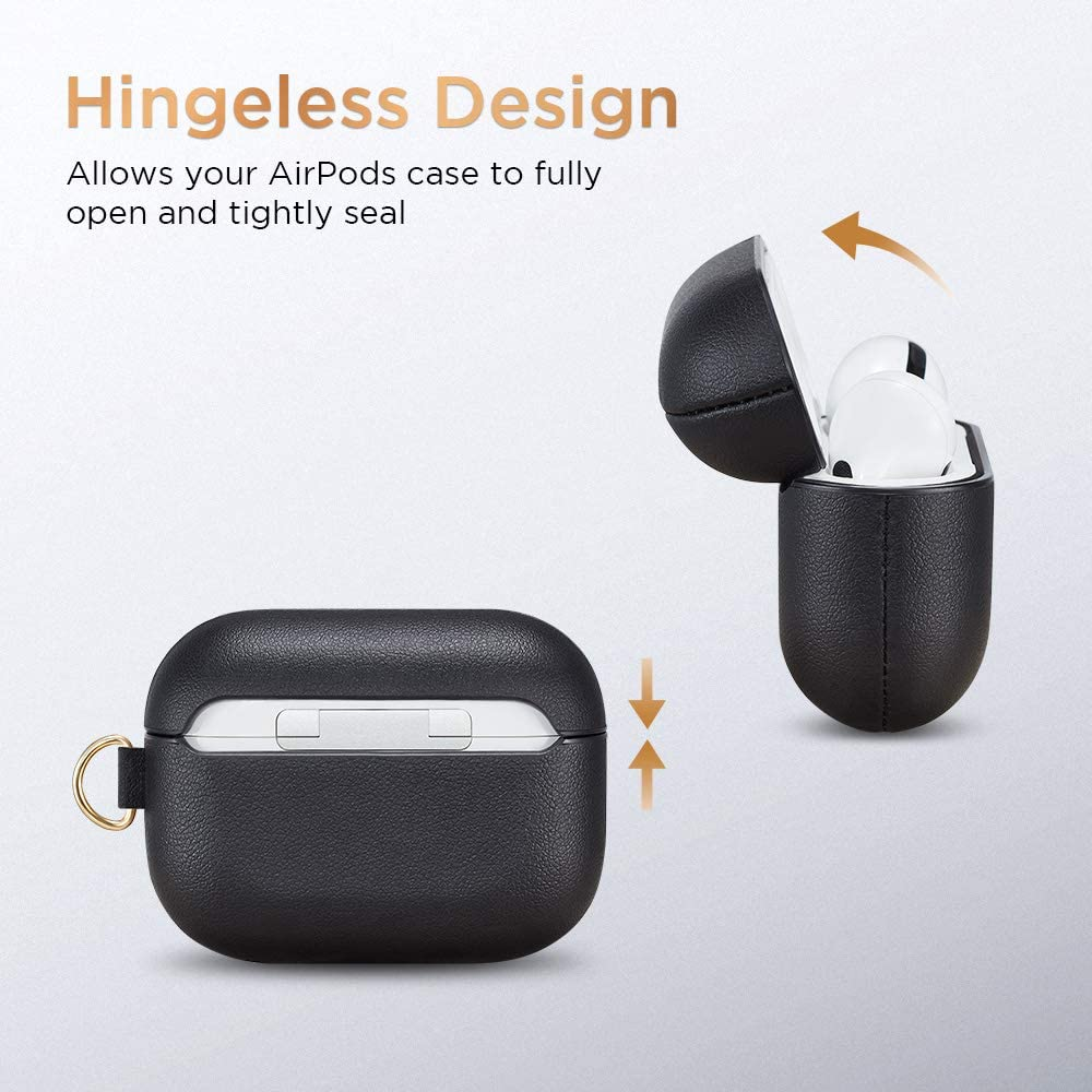 Visible Front LED Shock-Resistant Black Metro Light AirPods Carrying Case with Keychain /& Keyring 2019 Release ESR Protective Cover for AirPods Pro