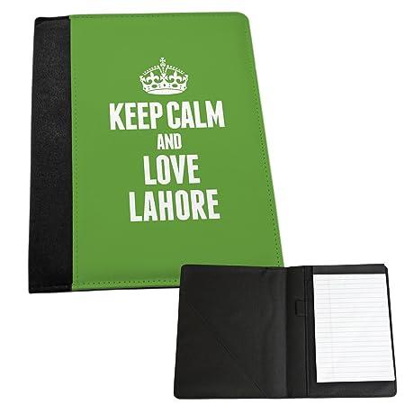 GREEN Keep Calm and Love Lahore Medium Notepad 2351: Amazon
