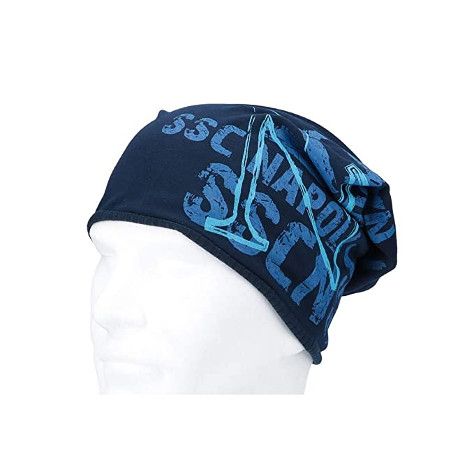 Cappello uomo NAPOLI - ENZO CASTELLANO rasta reversibile blu VL758   Amazon.it  Abbigliamento 36f279787717