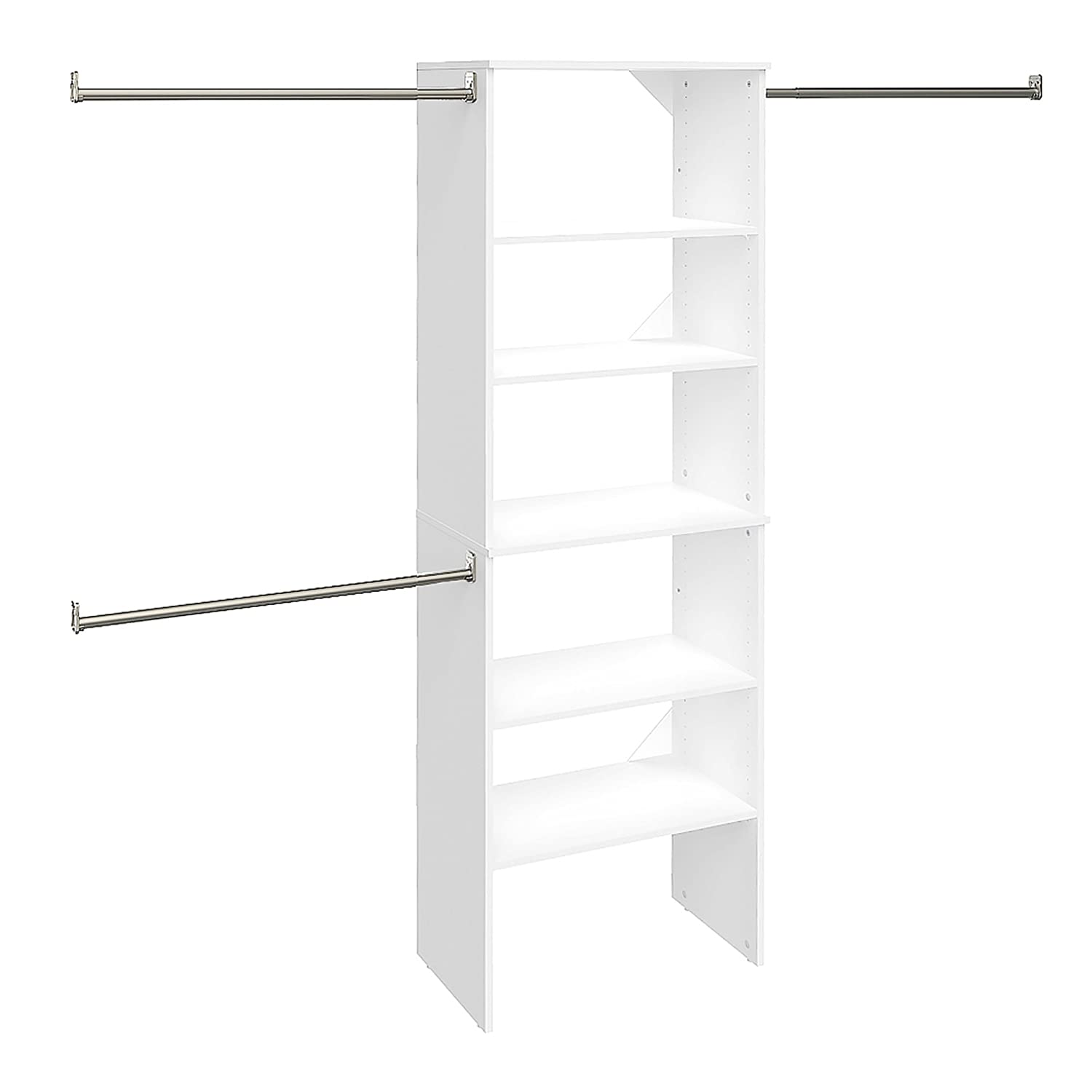"Closetmaid 25"" SuiteSymphony Starter Tower Kit - a tower of white cubbies for the laundry room!"