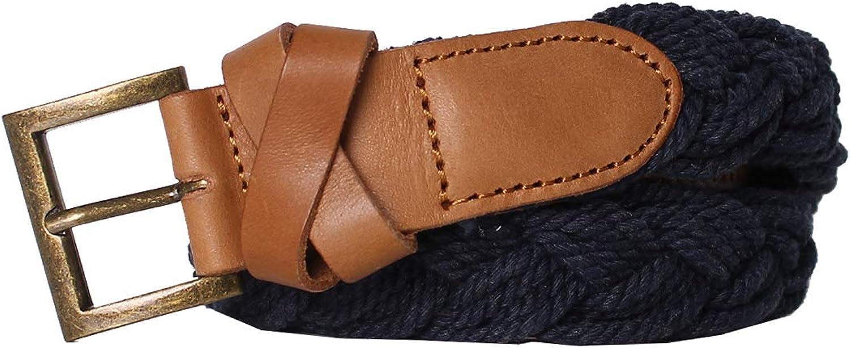 55DSL - Leather and Cotton Belt CREMK