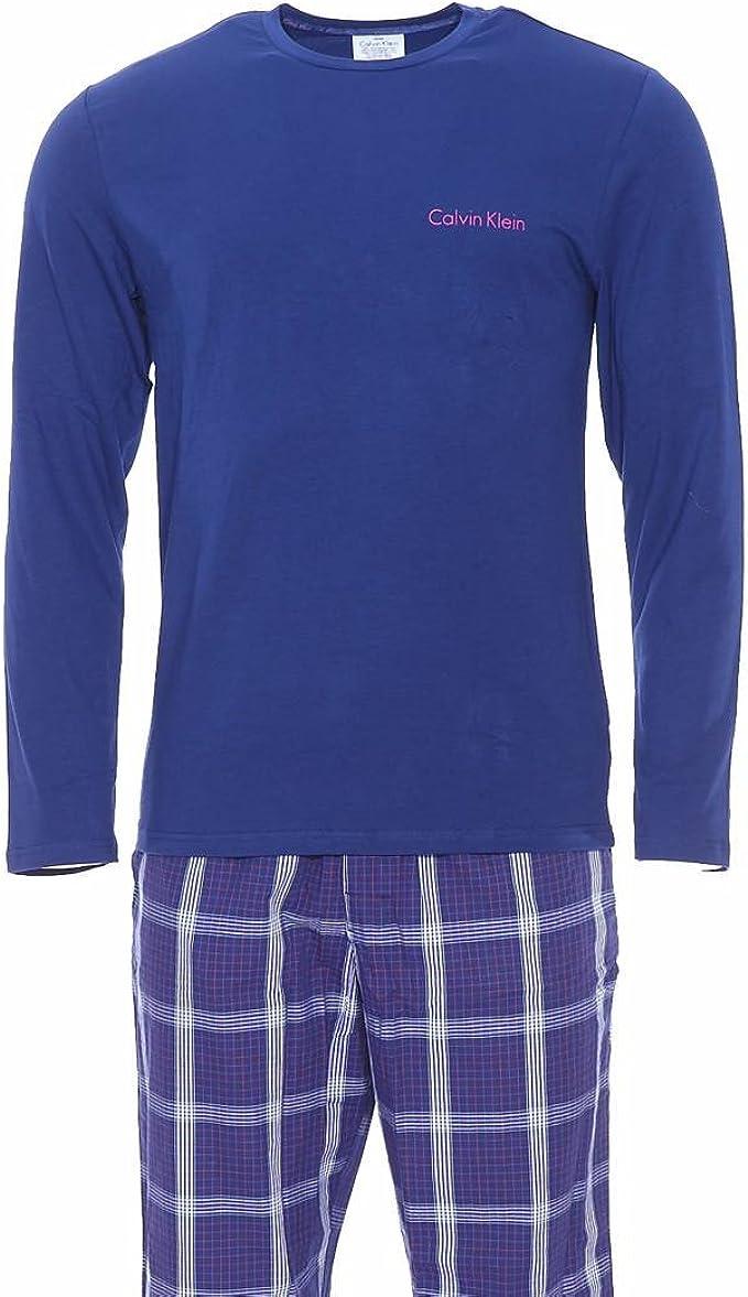 Calvin Klein IN A Bag-PJ Pant WL/S Crew Pijama de Dos Piezas para Hombre