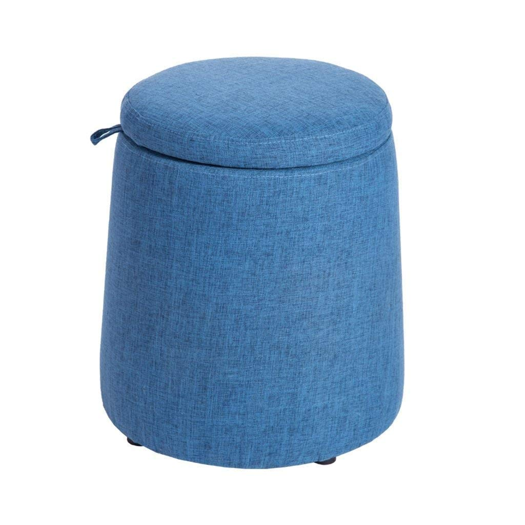 A ZDYUY Wooden Stools, Round Stools, Small Fabric Stools, Sofa Benches, Benches, shoes Benches, Stools, Easy to Remove and Wash (color   D)