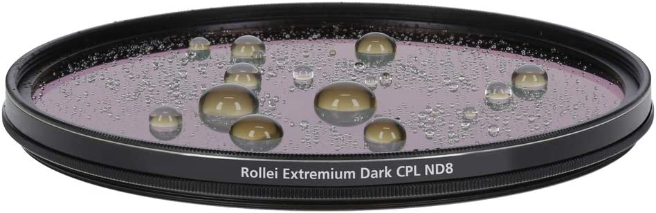 Grey Rollei Round Filter Extremium Dark CPL ND8/ Stopper 58/ mm