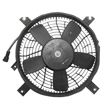 amazon ac a c condenser cooling fan with round plug assembly Jeep Nitro amazon ac a c condenser cooling fan with round plug assembly replacement for suzuki suv 95560 65d03 automotive