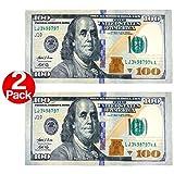 New 100 Dollar Bill Printed Beach Towel (106028) - 2 Pack Set