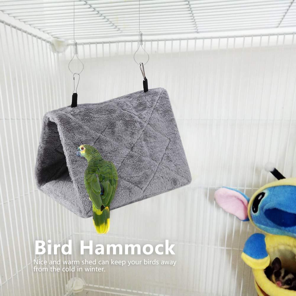 ShanborBird NestS Capanna per capannone Capanna pensile Amaca Finch Gabbia soffice Peluche Capanna per Uccelli Rifugio per Criceto Pappagalli Pappagalli Ara Eclectus Parrocchetto Cacatua M-Rosa