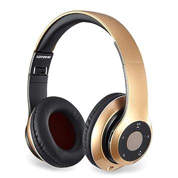 Zcx Tarjeta De Auriculares Bluetooth Auriculares Música Estéreo Computadora Móvil Deportes Juegos Inalámbricos Auriculares 4.0 (Color : Oro): Amazon.es: ...