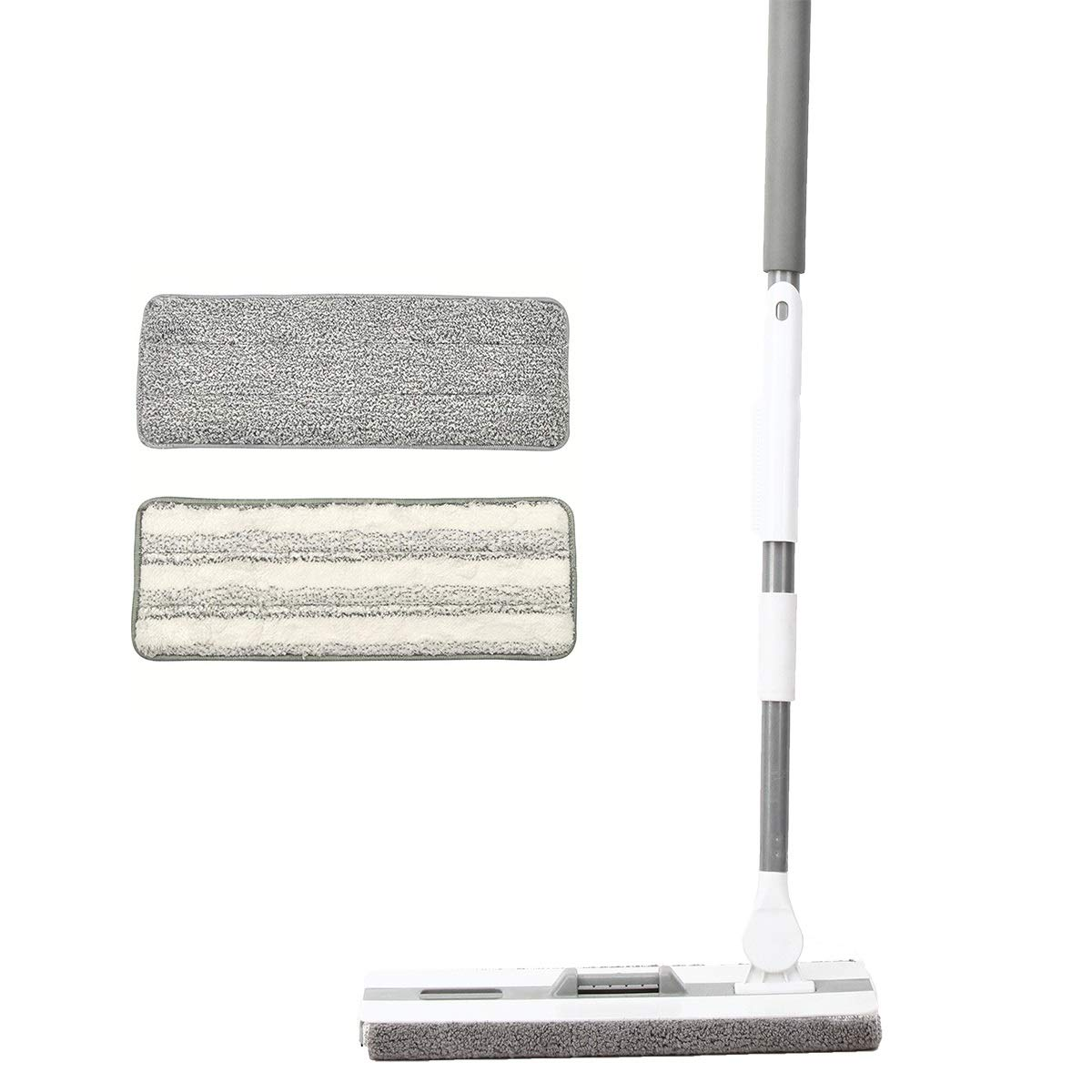 PICAD Microfiber Flat Mop Multi Slots Switch for Cleaning Hardwood and Floors, Includes: 1 Mop, 1 Dirt Removal Scrubber, 2 Pads Refills by PICAD (Image #1)