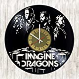 Imagine Dragons Vinyl Wall Clock Rock Band Unique Gifts Living Room Home Decor For Sale