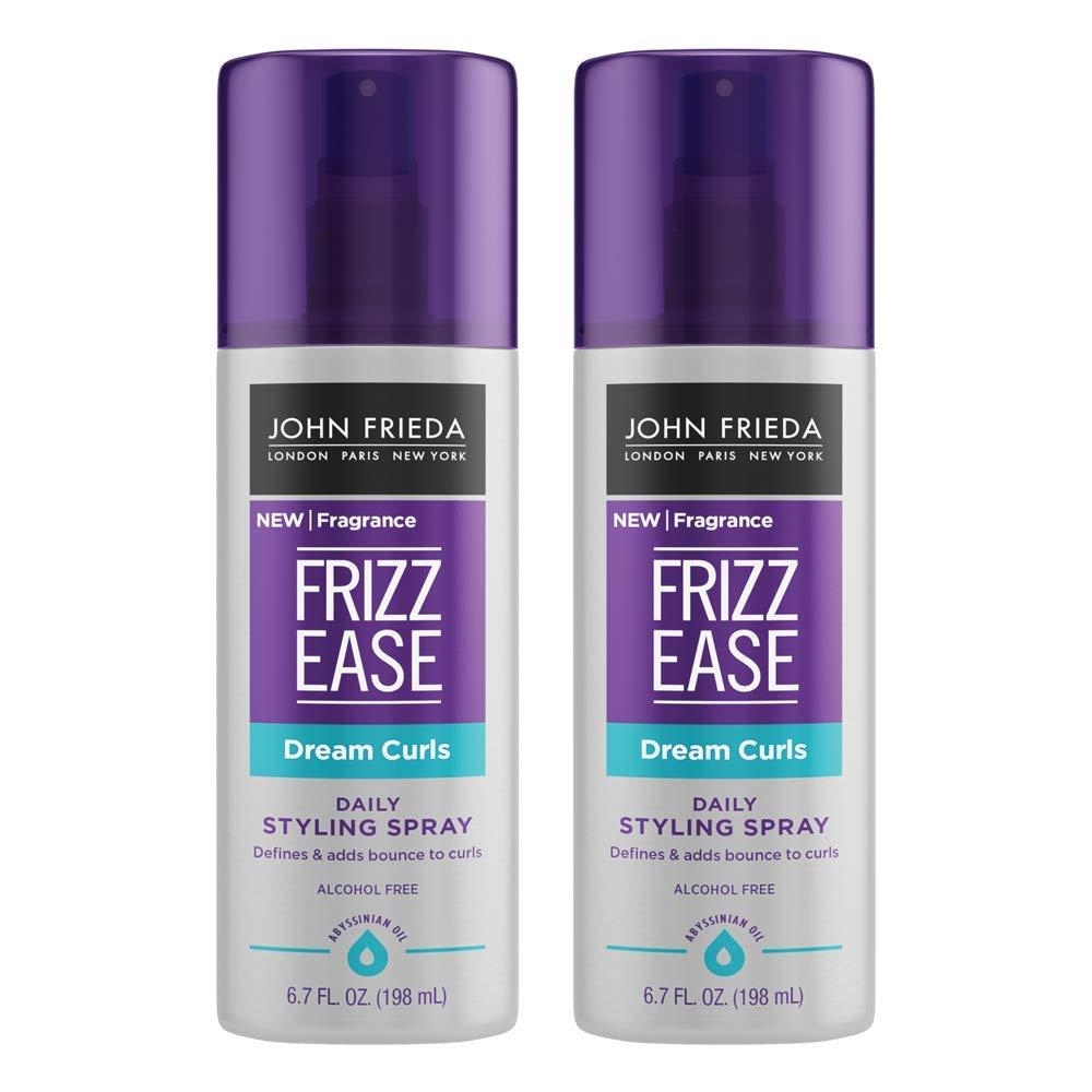 John Frieda Frizz Ease Curl Reviver Mousse, Enhances Curls, Mousse for Curly or Frizzy Hair, 7.2 Fl Ounces