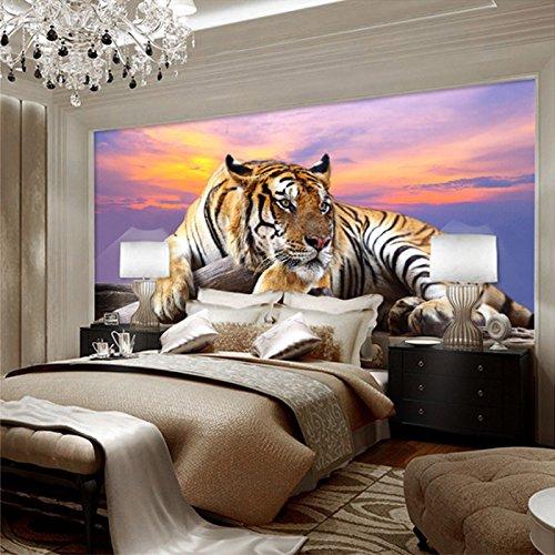 Yosot Benutzerdefinierte Fototapete Tiger Animal Tapeten 3D Große ...