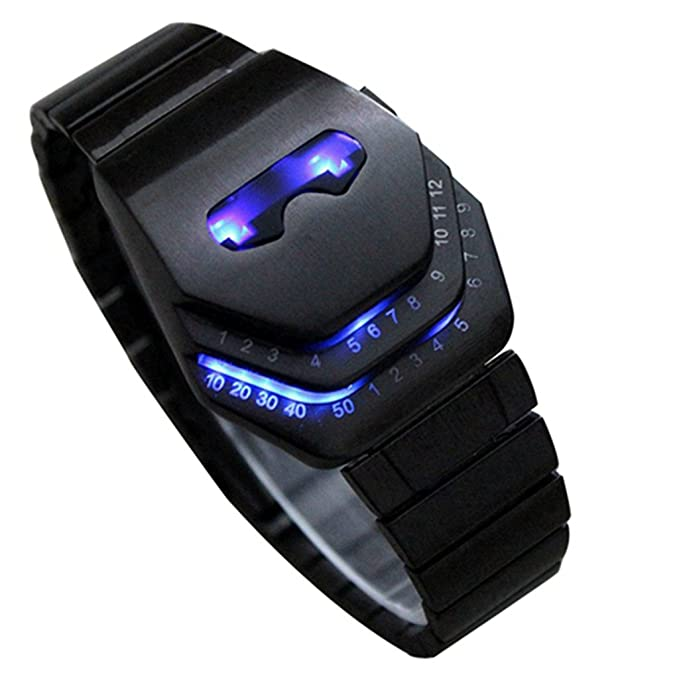 amazon com soleasy men s peculiar cool gadgets interesting amazon com soleasy men s peculiar cool gadgets interesting amazing snake head design blue led watches wth8021 watches