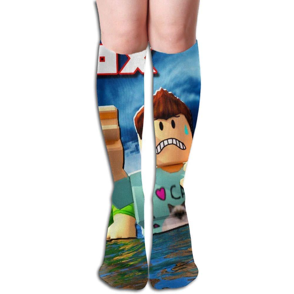 Wfispiy Unisex Casual Knee High Socks Ro-blox Running Long Socks Cotton Socks Stocking Boot Socks Great for Friends Family