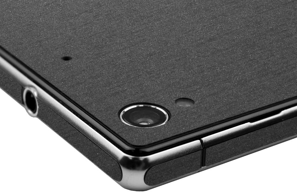 Full Coverage TechSkin with Anti-Bubble Clear Film Screen Protector Skinomi Brushed Steel Full Body Skin Compatible with Sony Xperia Z1S