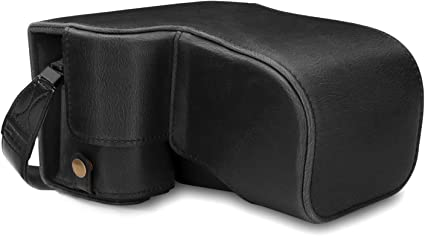 A6400 MegaGear Ever Ready Genuine Leather Camera Case Compatible with Sony Alpha A6100 18-135mm