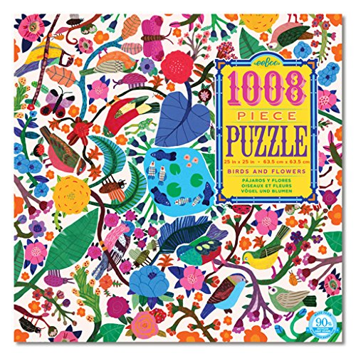 eeBoo Birds and Flowers Family Jigsaw Puzzle, 1008 pieces