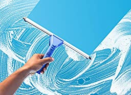 Super Squeegee – 3 in 1 Professional Window Cleaning Kit - Window Squeegee with Microfiber Scrubber 2 Piece Set with Extension Pole – for Windows, Glass, and Auto
