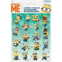 Despicable Me Sticker Sheets 4ct