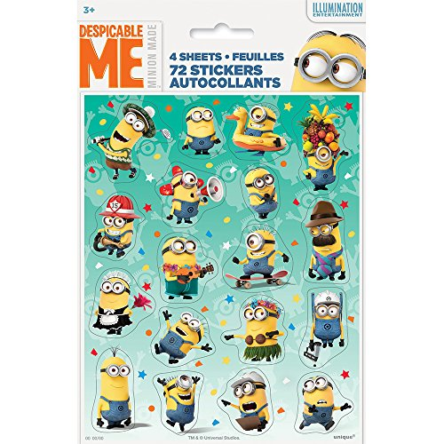 Despicable Me Minions Sticker Sheets, (Minion Stickers)