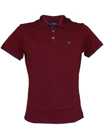 Emporio Armani - Polo - para Hombre Rojo Granate XXL: Amazon.es ...