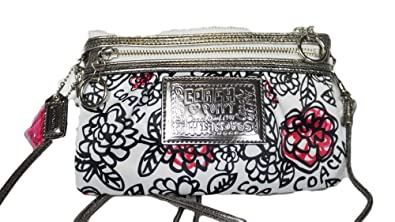 Coach poppy graffiti flower swingpack crossbody messenger bag purse coach poppy graffiti flower swingpack crossbody messenger bag purse 43683 black white multi mightylinksfo