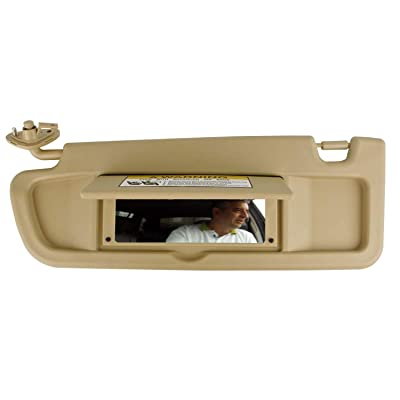 SAILEAD Left Driver Side Sun Visor for Honda Civic 83280-SNA-A01ZB 2006 2007 2008 Sun Visor Assembly (Beige): Automotive