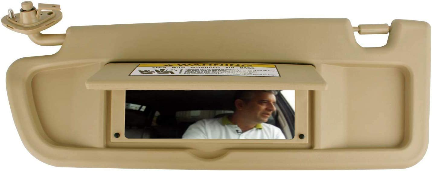 GOLDPAR Left Driver Side Sun Visor for Honda Civic 83280-SNA-A01ZB 2006 2007 2008 Visor Assembly Beige
