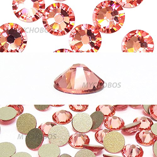 ROSE PEACH (262) pink Swarovski NEW 2088 XIRIUS Rose 12ss 3mm flatback No-Hotfix rhinestones ss12 nail art 144 pcs (1 gross) *FREE Shipping from Mychobos (Crystal-Wholesale)*
