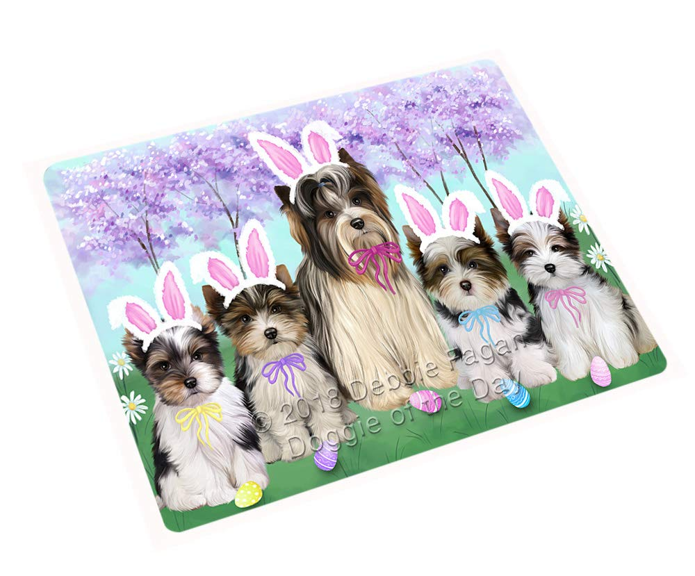 Doggie of the Day Easter Holiday Biewer Terriers Dog Blanket BLNKT131592 (60x80 Woven)