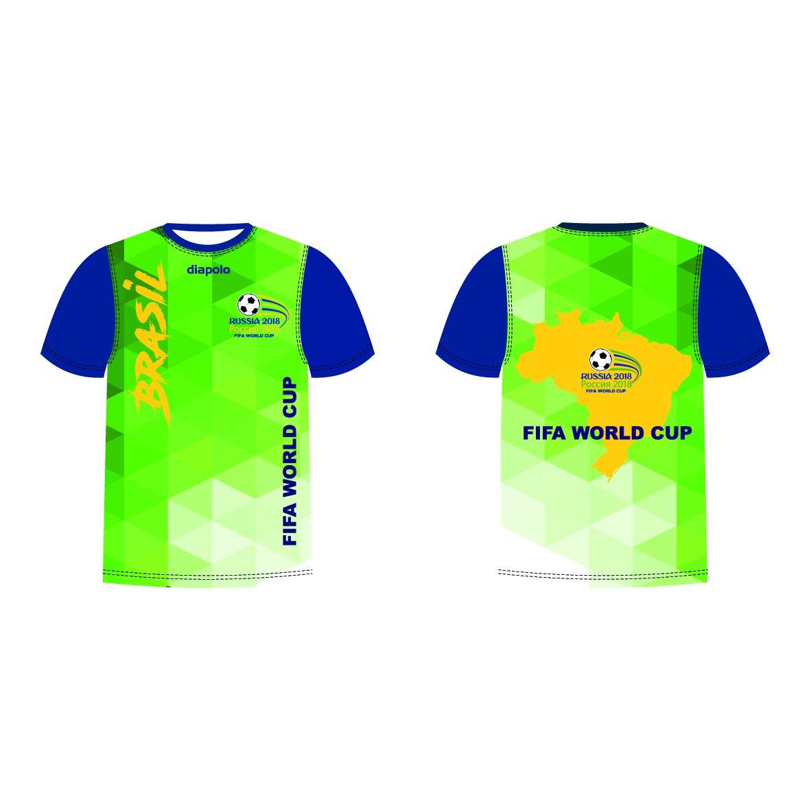 Diapolo Professional Atmungsaktiv Qualitativ Hochfertiger Funktion Fan T-Shirt Brasil S M L XL XXL
