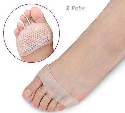 metatarso pie almohadillas reutilizables para corredores bola de pie almohadillas para la corrección de juanetes metatarso plantillas ...
