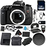 6Ave Canon EOS Rebel T6s DSLR Camera (Body Only) (0020C001) + LP-E17 Replacement Lithium Ion Battery + External Flash + MicroFiber Cloth + Camera Neck Strap Bundle