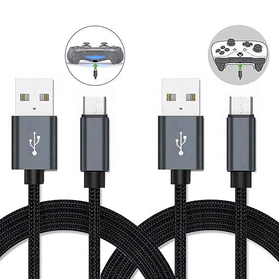 Amazon.com: Cable Micro USB, cable de carga para controlador ...