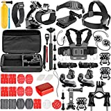 Neewer 57-in-1 Action Camera Accessory Kit for GoPro Hero Session/5 Hero 1 2 3 3+ 4 5 6 SJ4000 5000 6000 DBPOWER AKASO VicTsing APEMAN WiMiUS Rollei QUMOX Lightdow Campark And Sony Sports DV and More